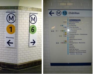 panneaux métro paris