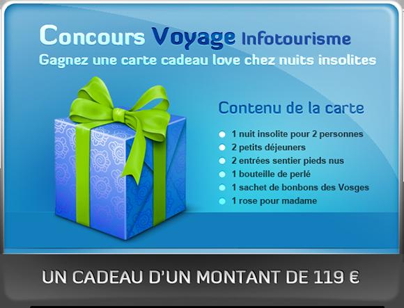 concours voyage infotourisme