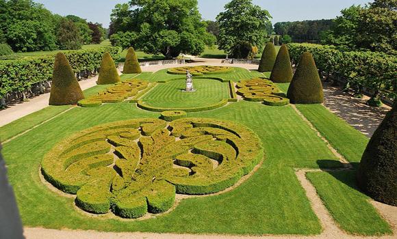 jardin du château de Bouges