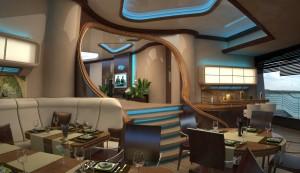salle à manger iles flottantes