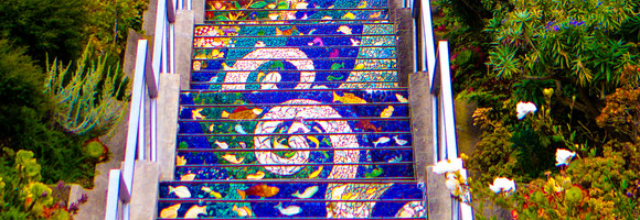 san francisco escalier