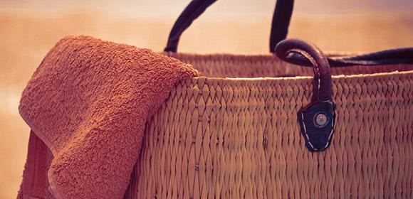 reparer sortie plage sac serviette
